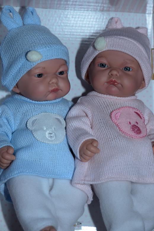 Realistické panenky dvojčátka - chlapeček a holčička od firmy Guca ze Španělska (Doprava zdarma)