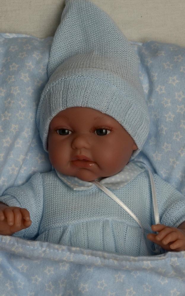 Realistické miminko Antonio Juan - chlapeček Tonet v peřince (Doprava zdarma)