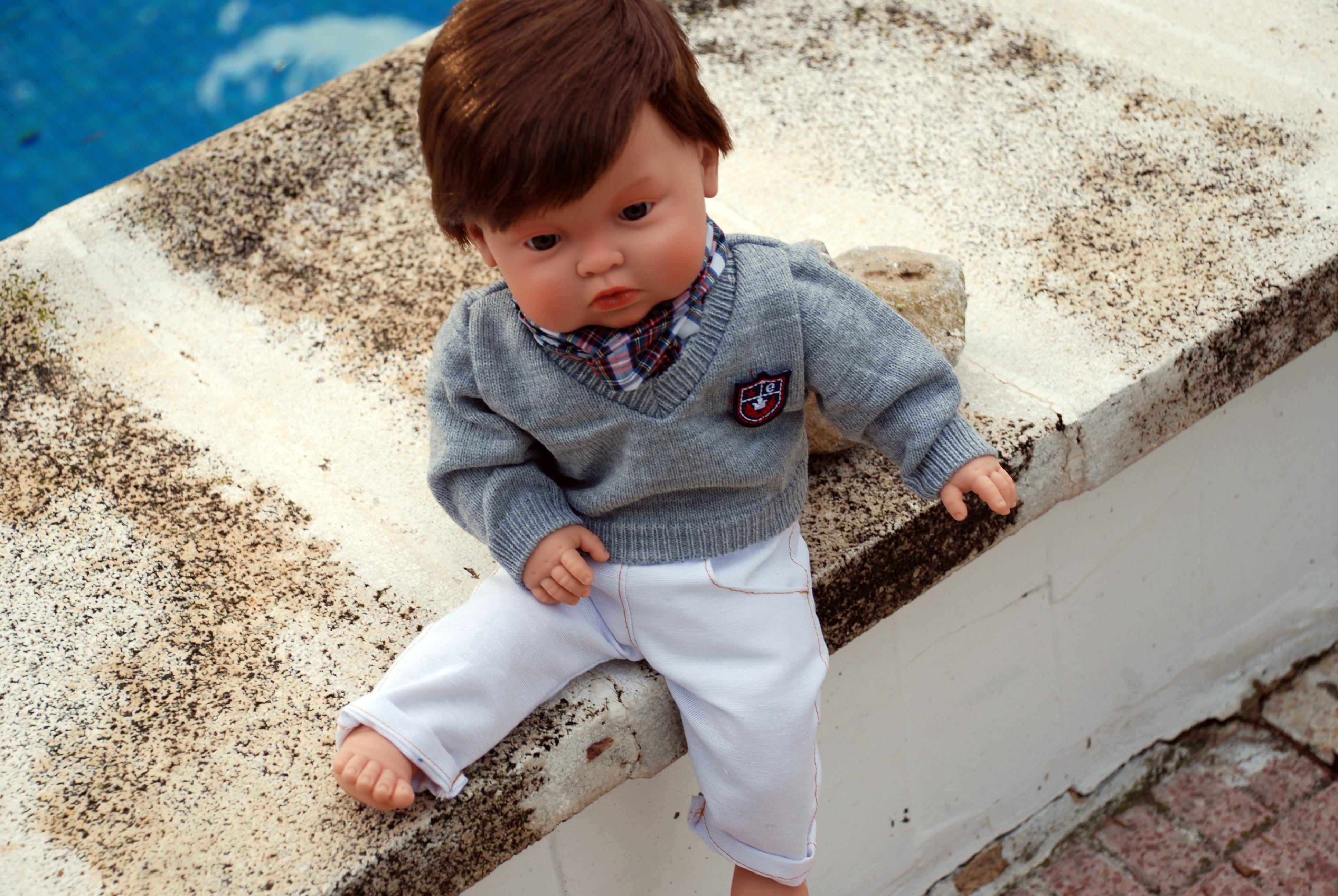 Realistická panenka chlapeček Cavalli od firmy Endisa ze Španělska (Doprava zdarma)
