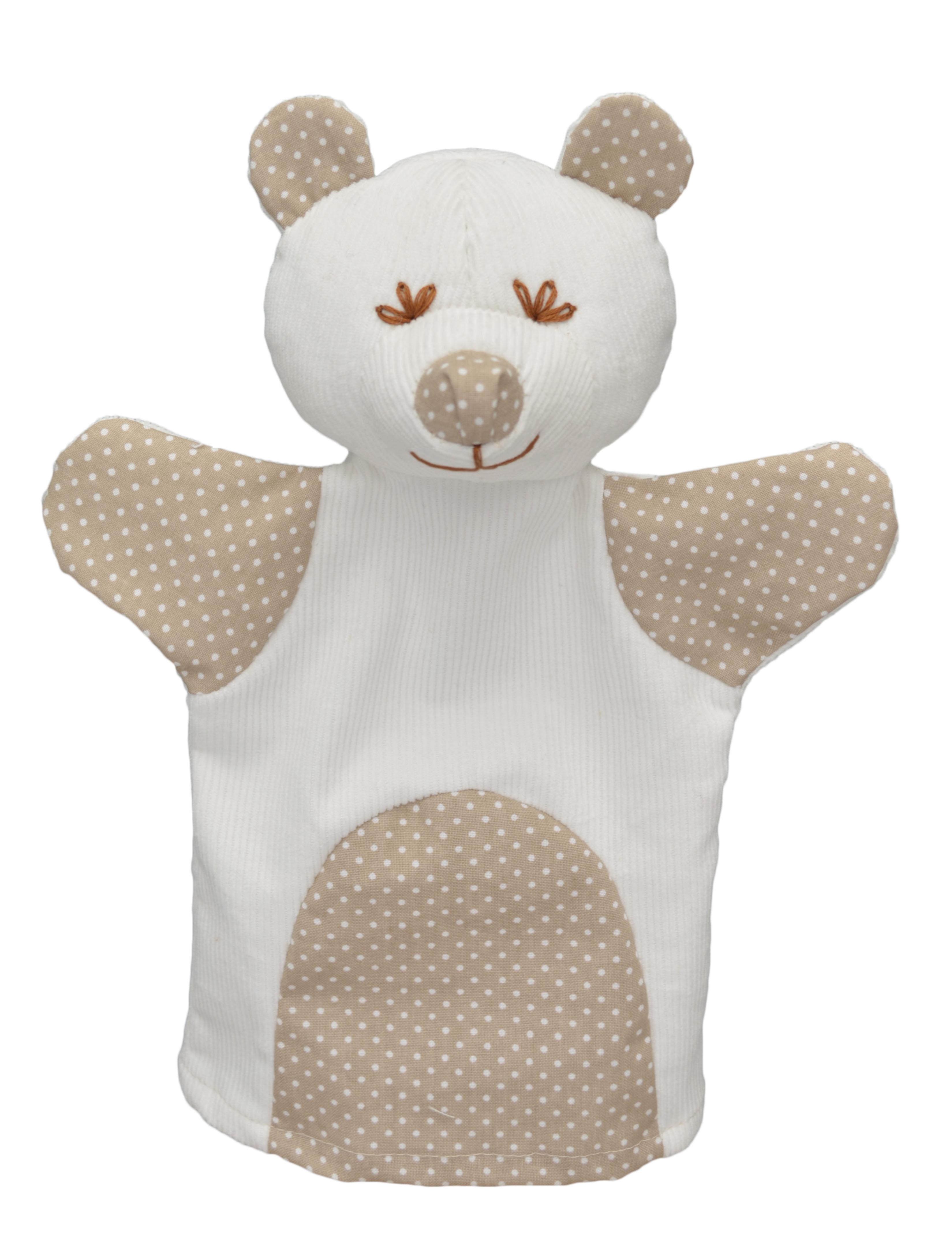 Maňásek na ruku - Medvěd MIMI, puntík