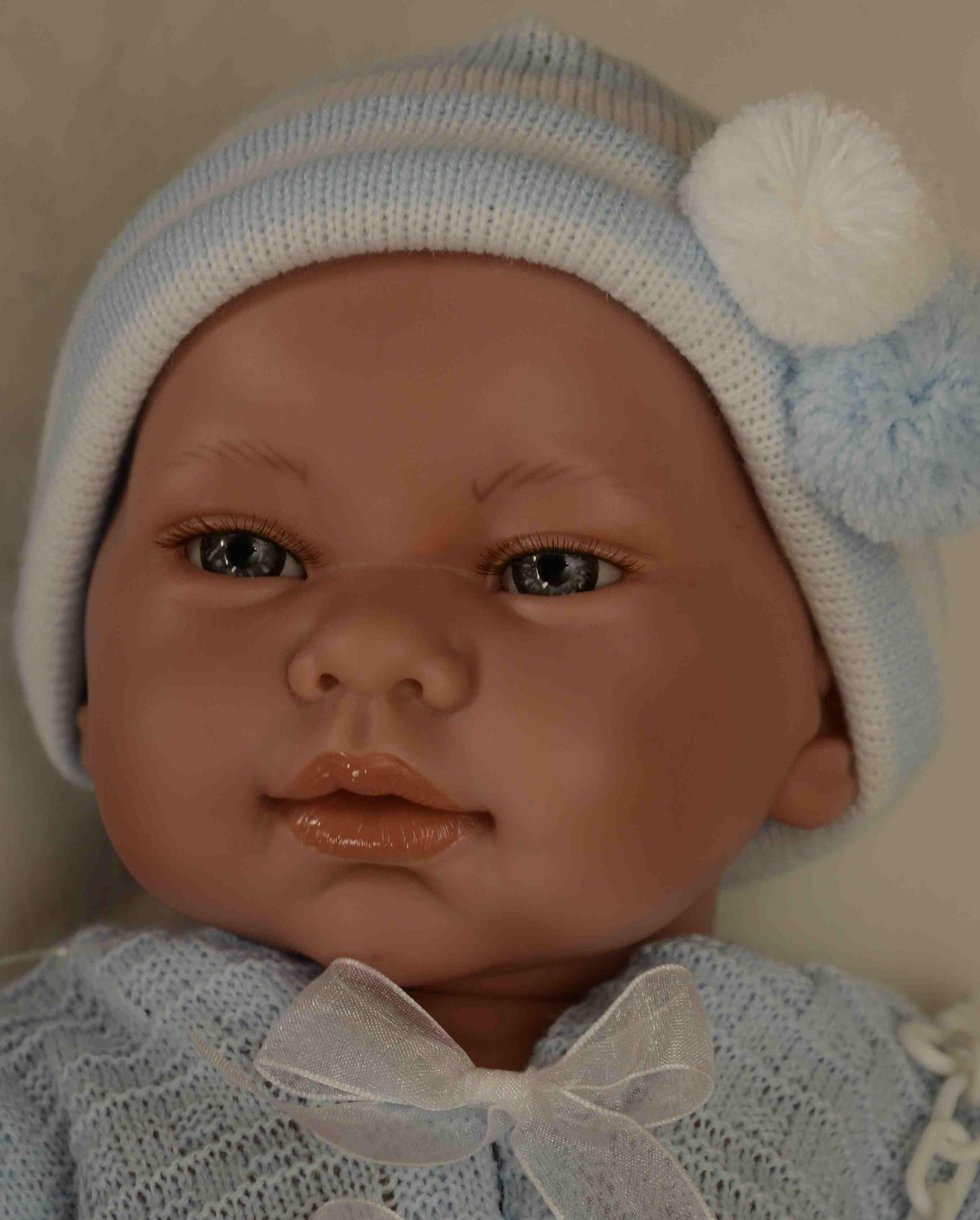 Realistické miminko - chlapeček - Mario svetr na mašle od firmy Lamagik (Doprava zdarma)