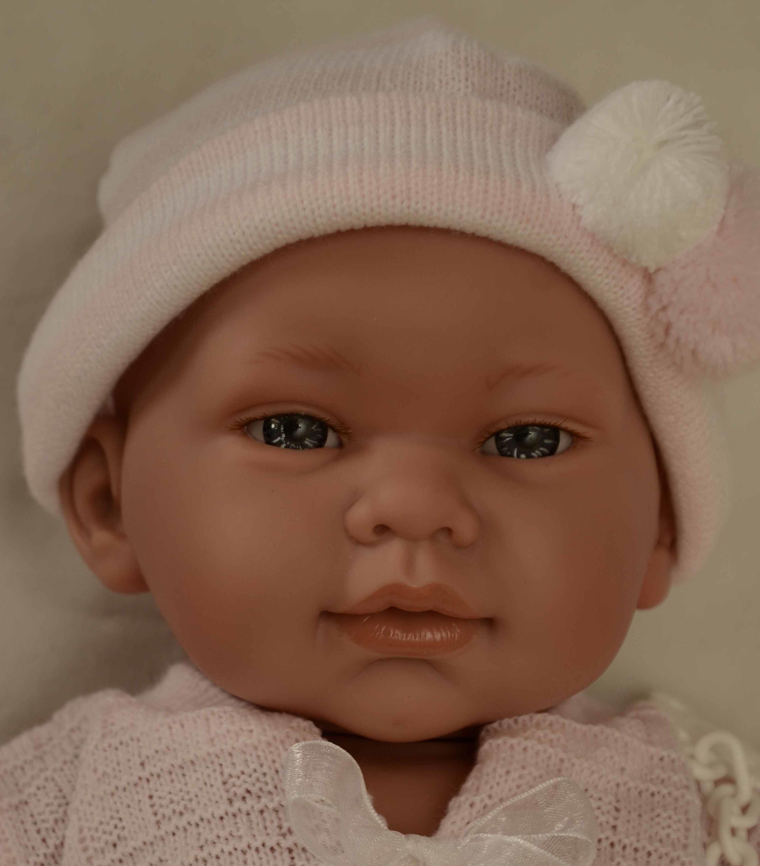 Realistické miminko - holčička - Marina svetřík na mašle od firmy Lamagik (Doprava zdarma)