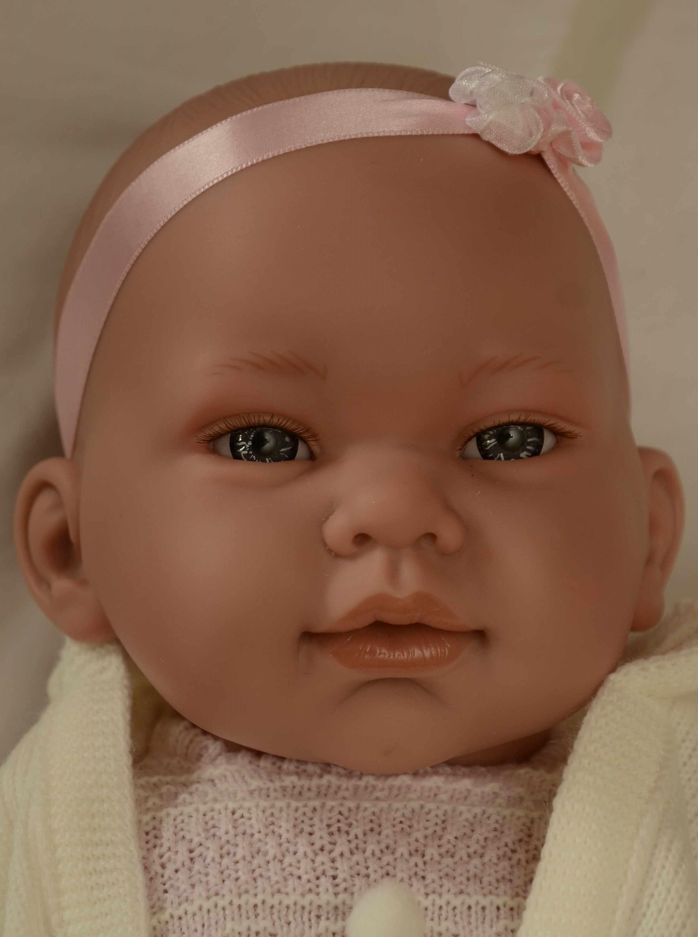 Realistické miminko - holčička - Marina s kapucou od firmy Lamagik (Doprava zdarma)
