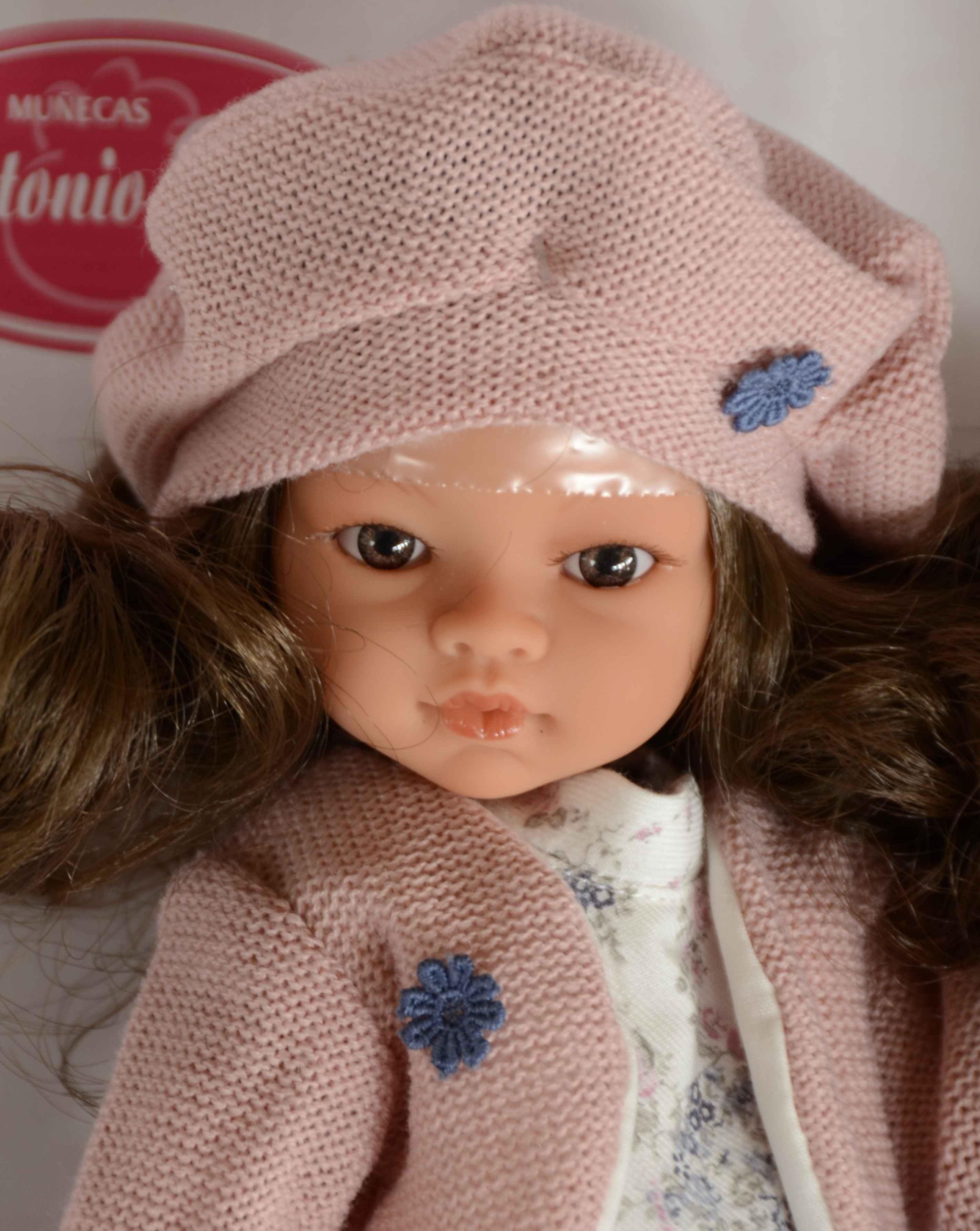 Realistická panenka - Emily Falda Azul -tmavé vlásky