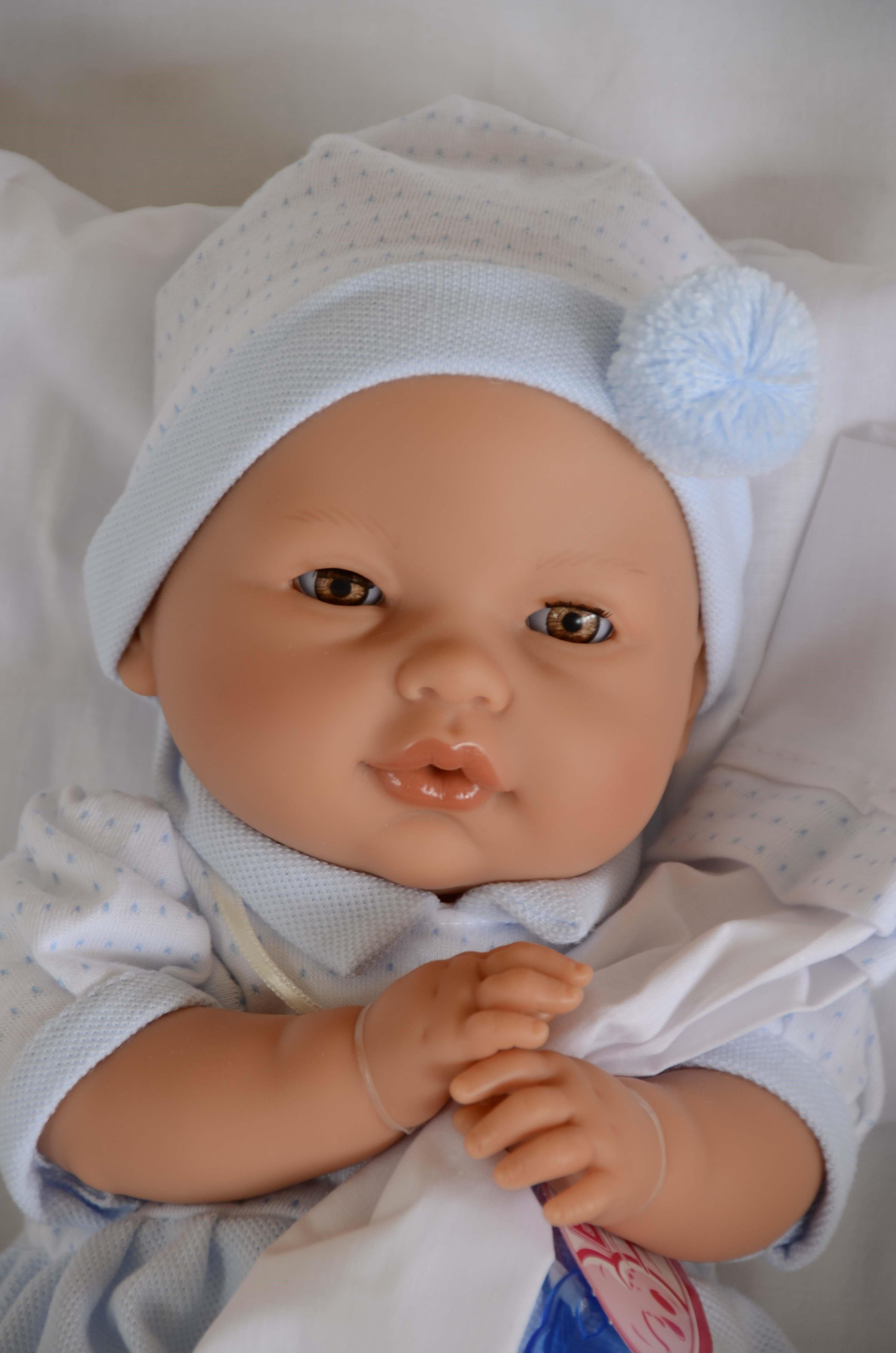 Realistické miminko- chlapeček - Bimbo mrkací - Antonio Juan