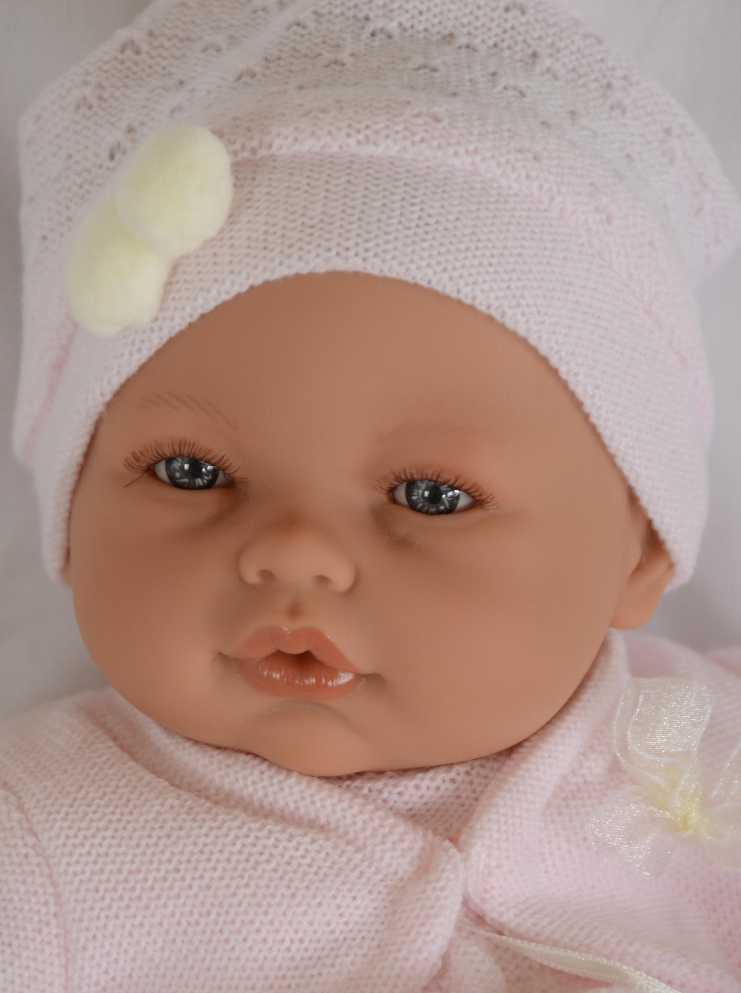 Realistické miminko - holčička Bimba - světle růžové šaty od Antonio Juan