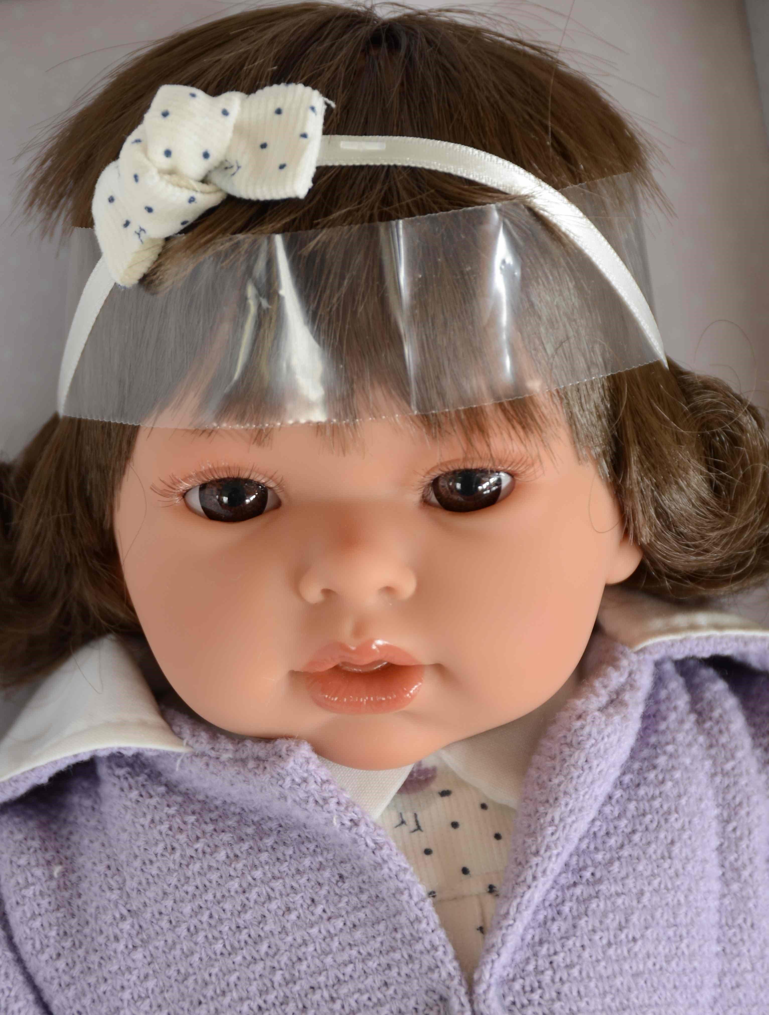 Realistická panenka Antonio Juan - holčička Any Melenita - tmavé vlásky (Doprava zdarma)