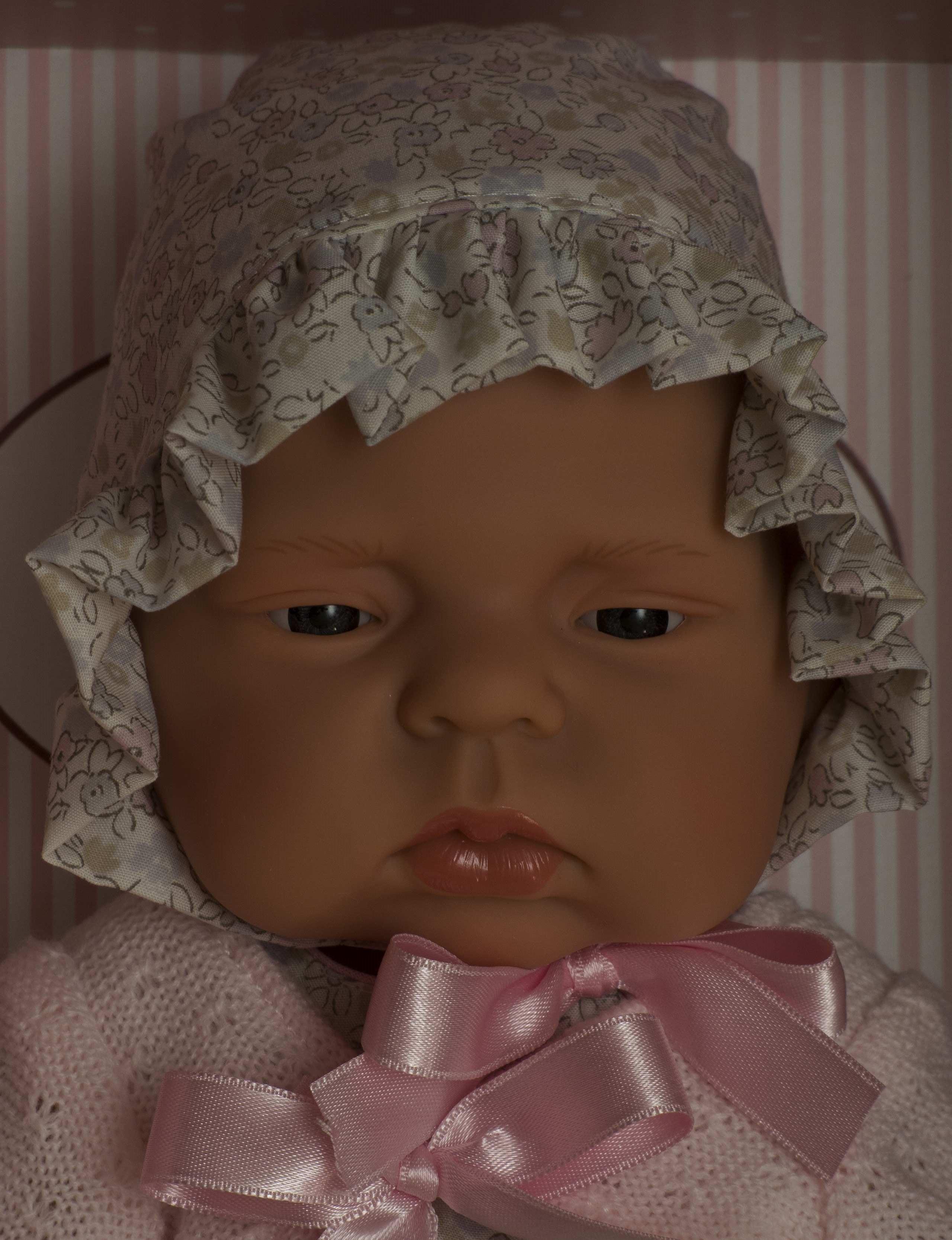 Realistické miminko - LUCÍA - letní květované šaty od firmy ASIVIL (velikost 42 cm)