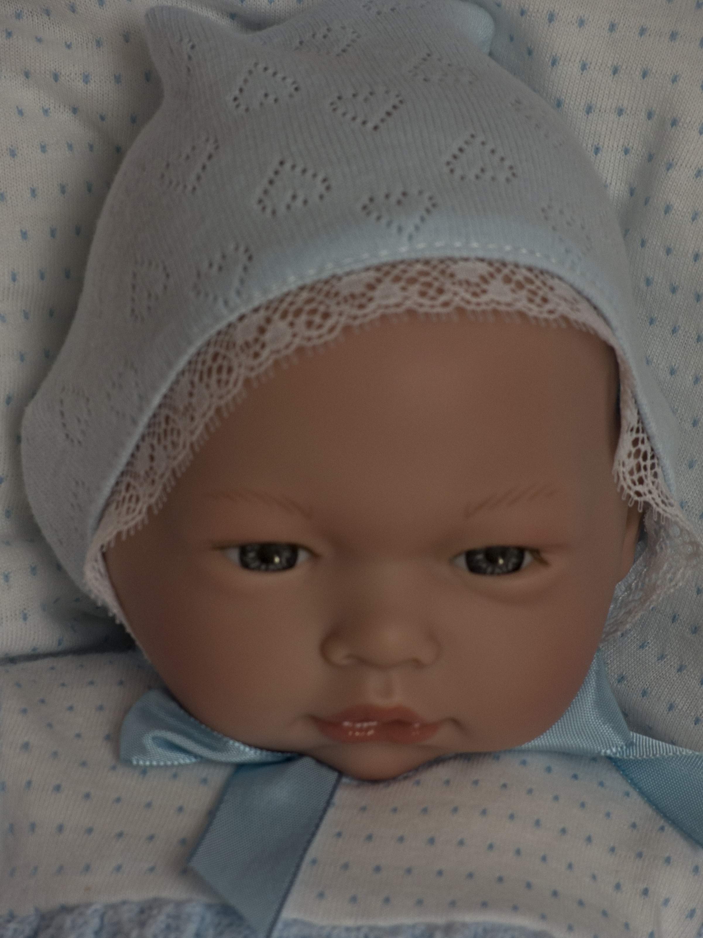 Chlapeček Samuel v zavinovačce od firmy Guca (Realistické miminko ze Španělska)