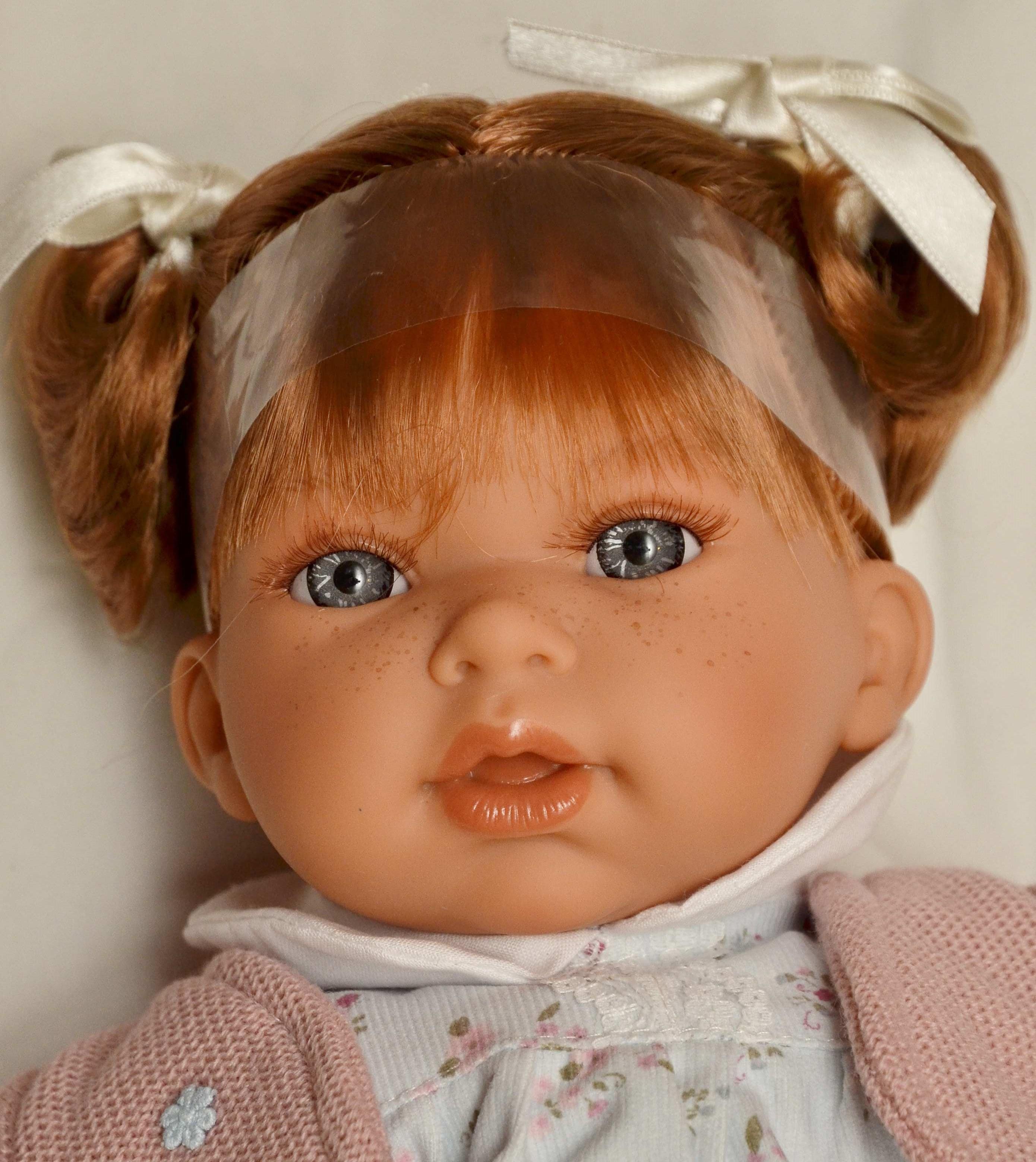 Realistická panenka Antonio Juan - holčička Any Dos Coletitas - zrzavé lásky