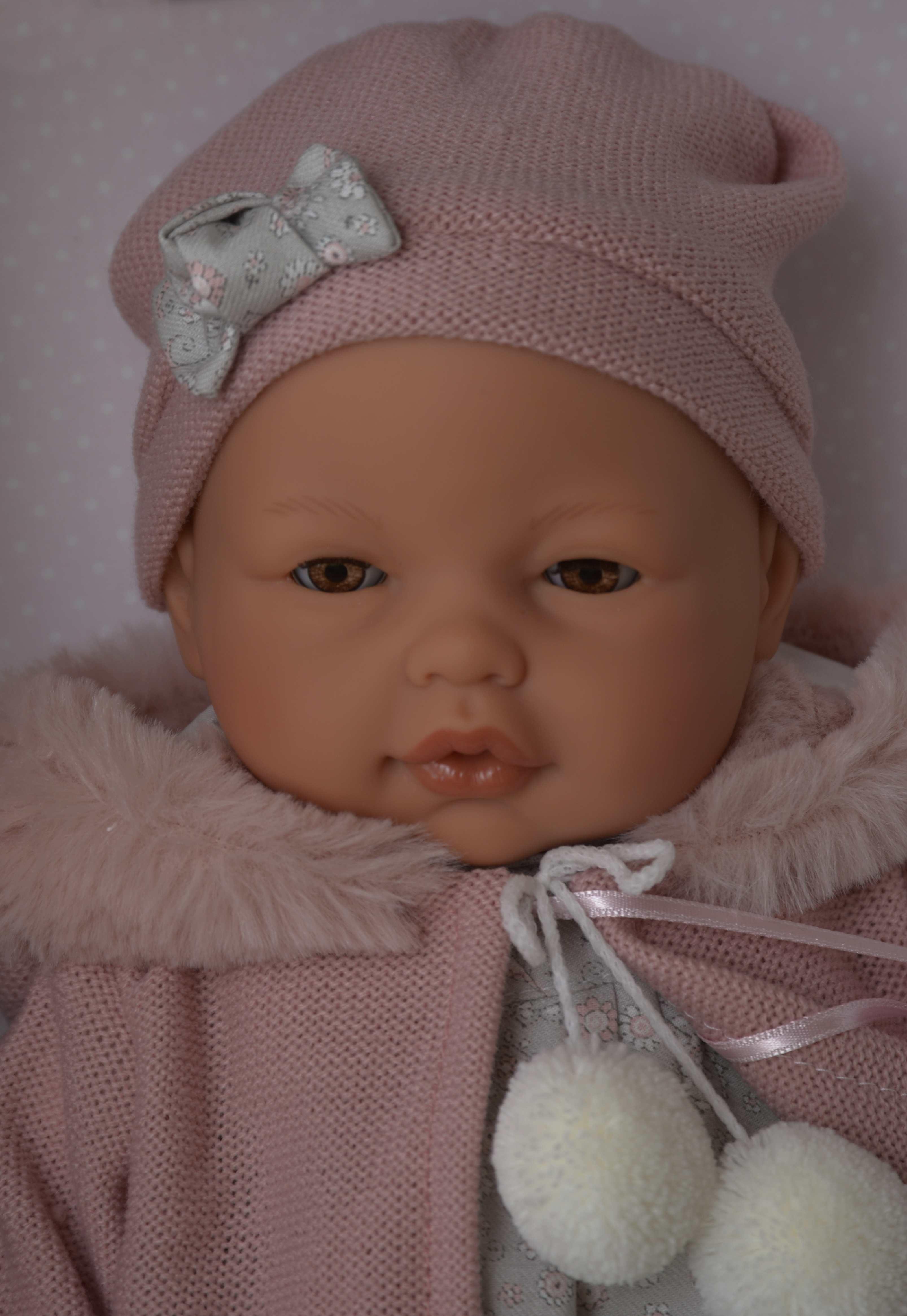 Realistické miminko - Bimba v zimním- mrkací od Antonio Juan