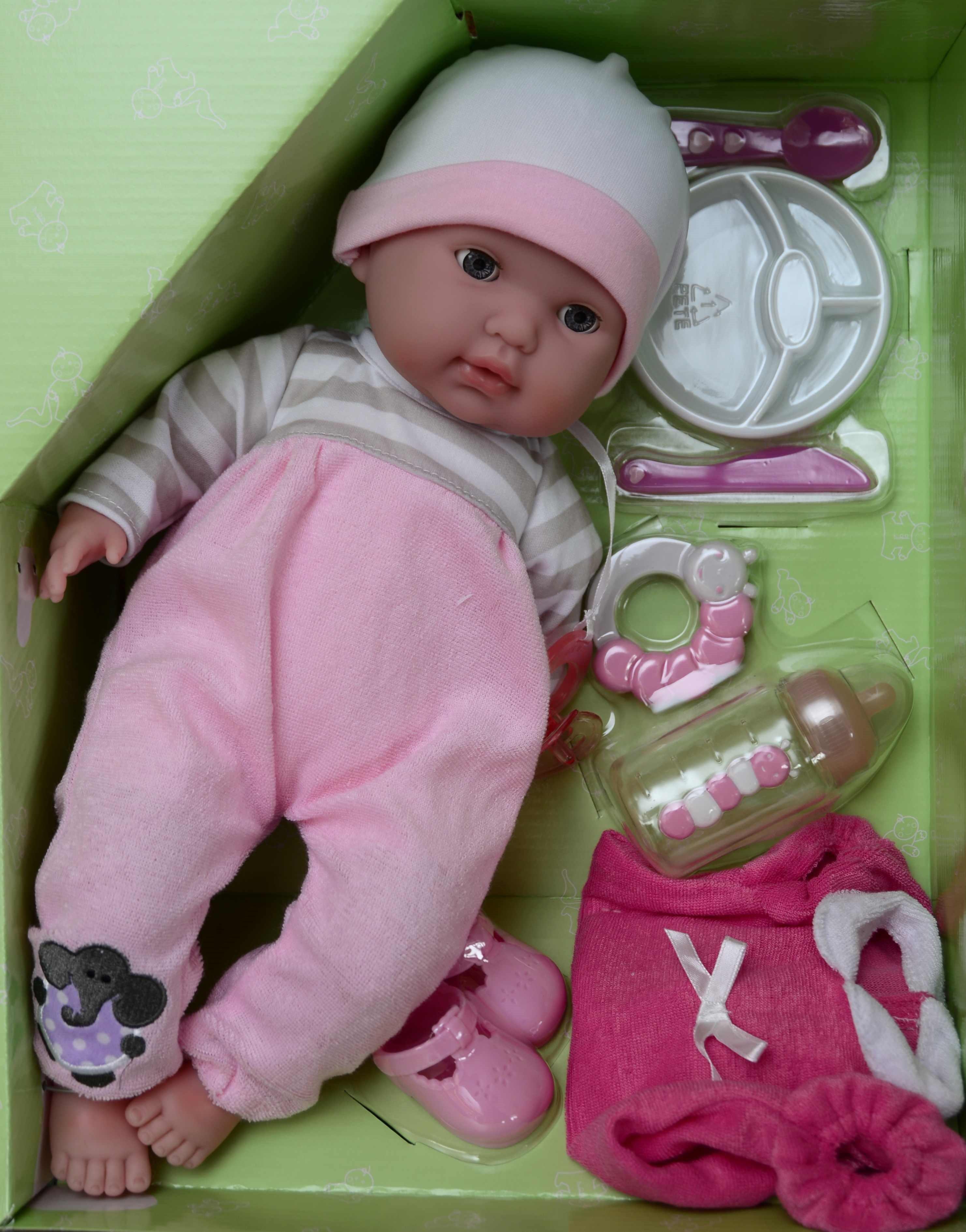 Mrkací panenka Peggy s příslušenstvím od firmy Berenguer (JC Toys - Berenguer)