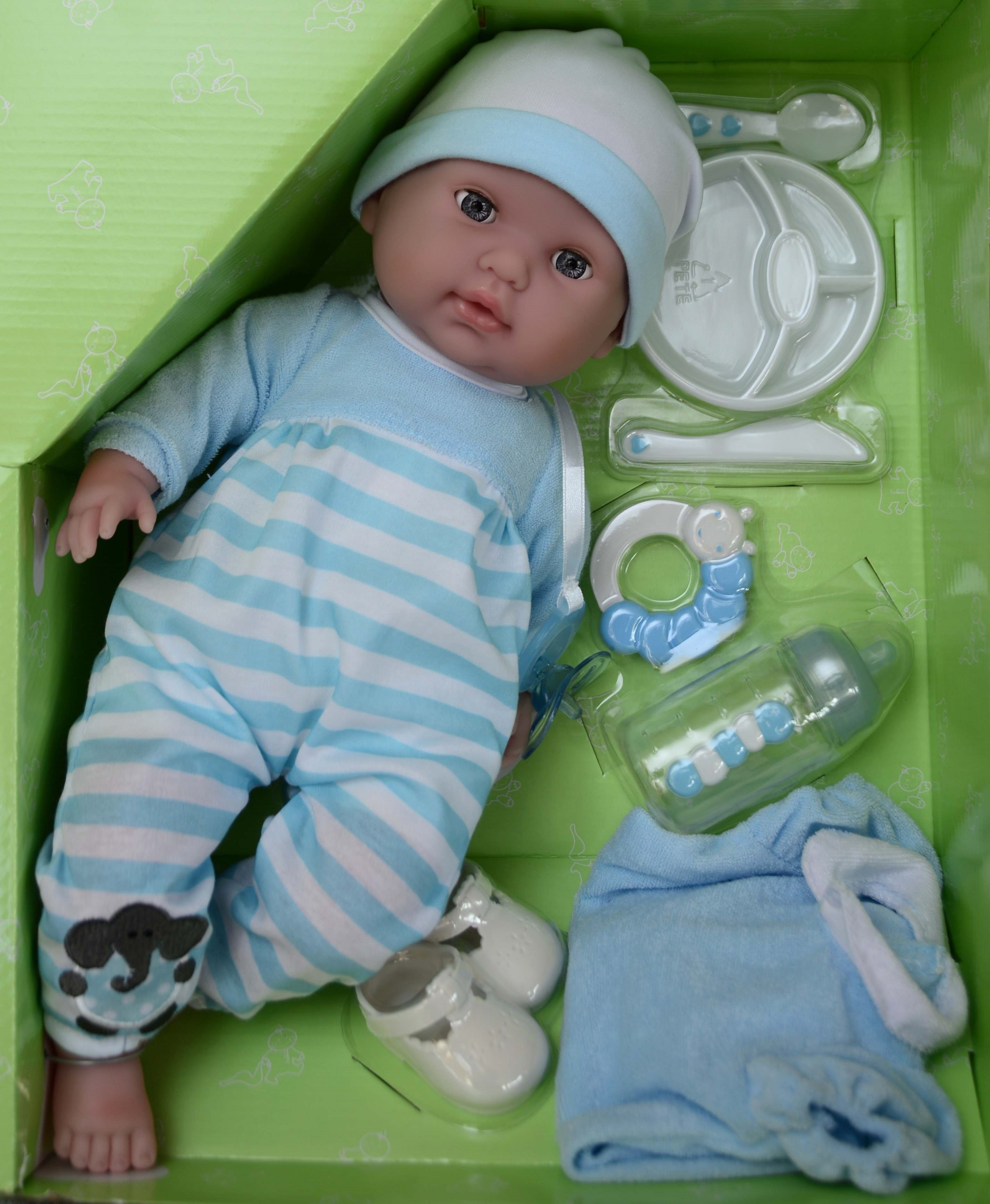 Mrkací panenka chlapeček Pedro s příslušenstvím od firmy Berenguer (JC Toys - Berenguer)