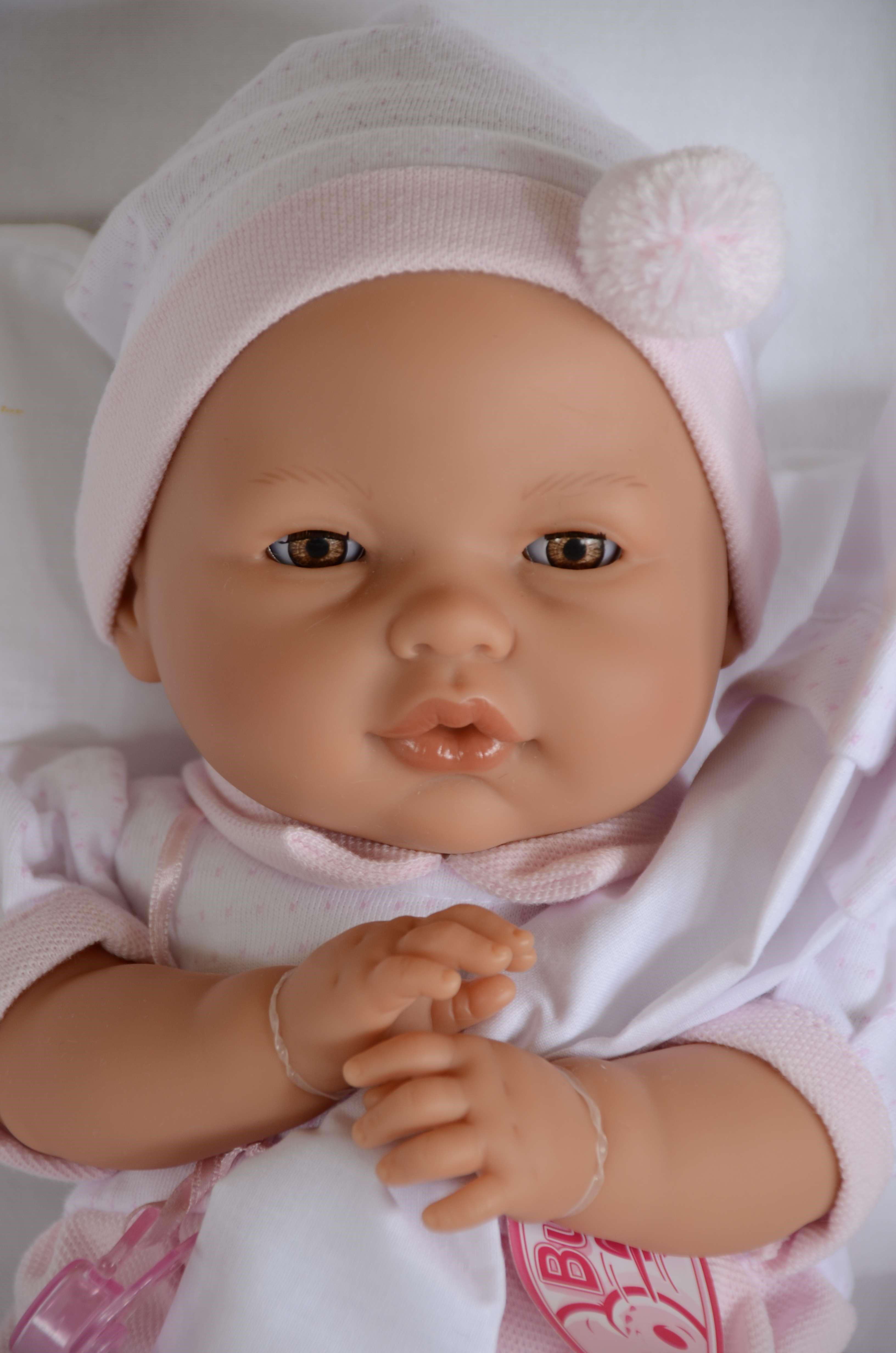 Realistické miminko - holčička - Bimba - mrkací od Antonio Juan