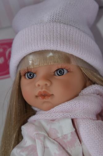 Realistická panenka - Emily abrigo -světlé vlásky