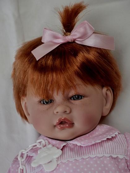 Realistické miminko - holčička -Věra se zrzavými vlasy od f. Guca ze Španělska