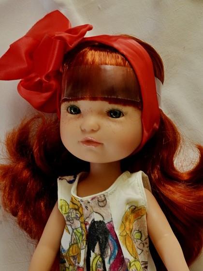 Realistická panenka - holčička Gretta- zrzavé vlasy od firmy Berjuan