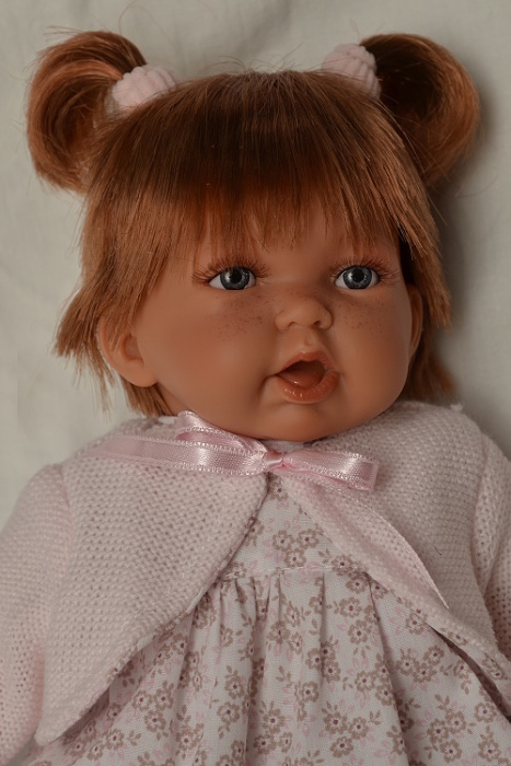 Realistická panenka holčička - Petit Pirris - zrzavé vlásky od Antonio Juan