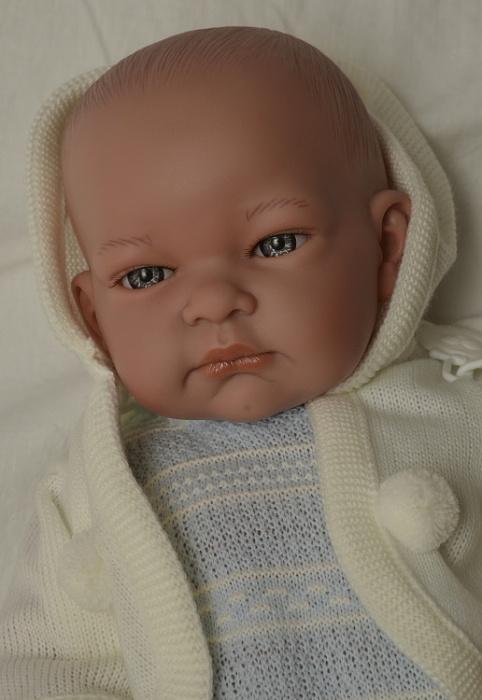 Realistické miminko - chlapeček - John s kapucou od firmy Lamagik (Doprava zdarma)