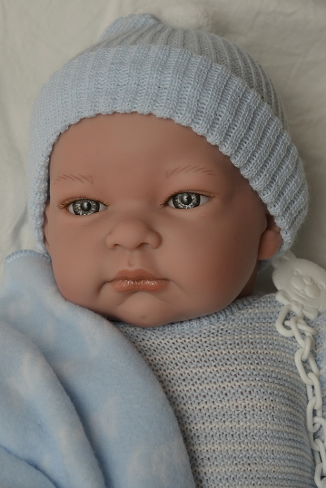Realistické miminko - chlapeček - John s dečkou od firmy Lamagik (Doprava zdarma)