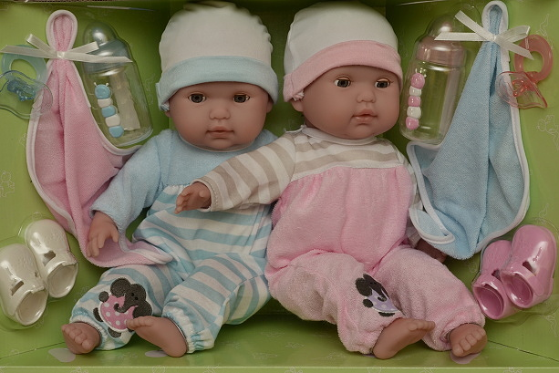 Mrkací panenky dvojčátka od firmy Berenguer (Doprava zdarma)