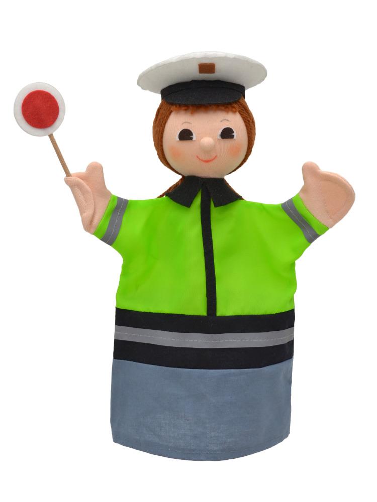Maňásek na ruku - Policistka (28 cm)