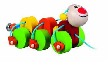 DETOA housenka Julie - tahací (Dřevěné hračky )