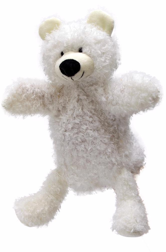Maňásek na ruku s nohama - Medvídek bílý