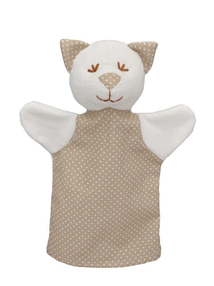 Maňásek na ruku - Kočka MIMI, puntík (26 cm)
