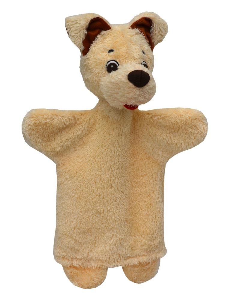 Maňásek na ruku - Pejsek béžový (29 cm)