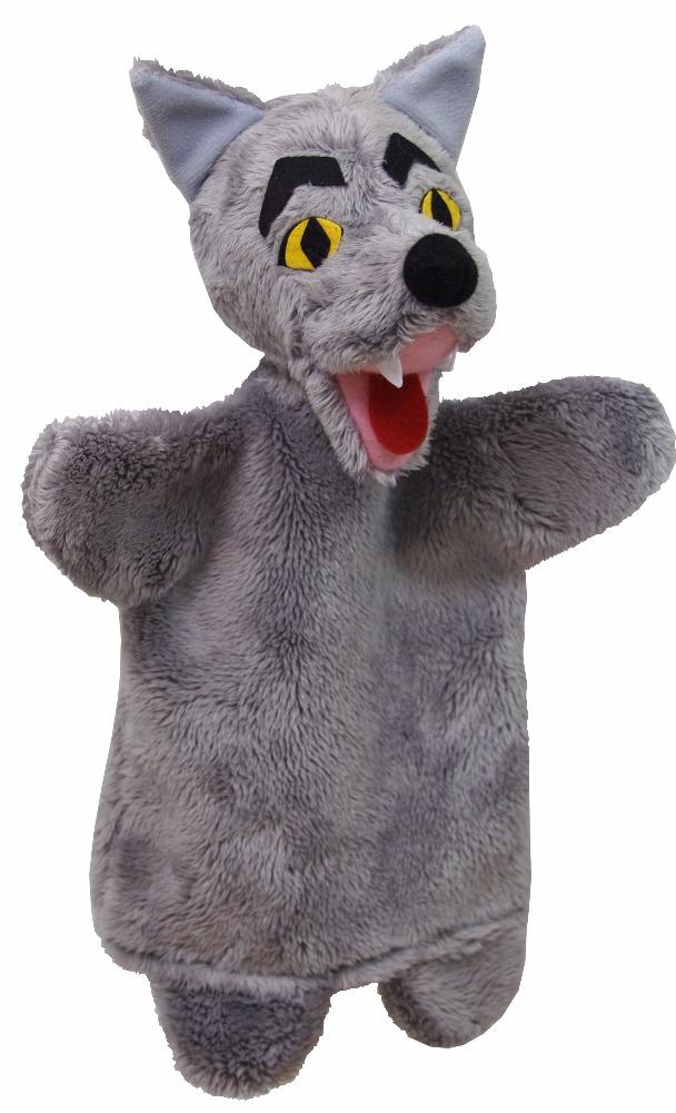 Maňásek na ruku - Vlk (26 cm)