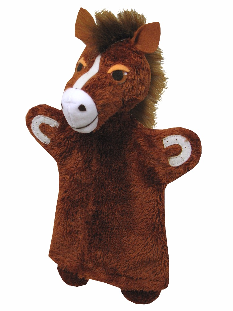Maňásek na ruku - Kůň (32 cm)