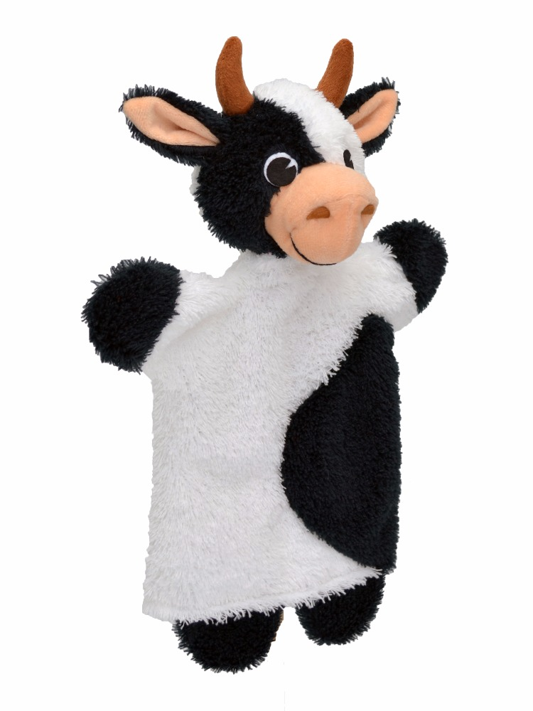 Maňásek na ruku - Kráva strakatá (29 cm)