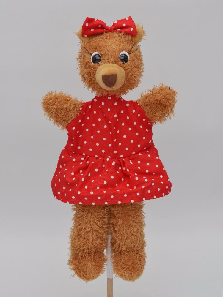 Maňásek na ruku - Medvěd máma (33 cm)