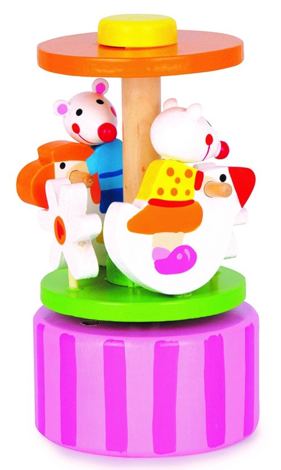 Hrací kolotoč (Dřevěná hračka)