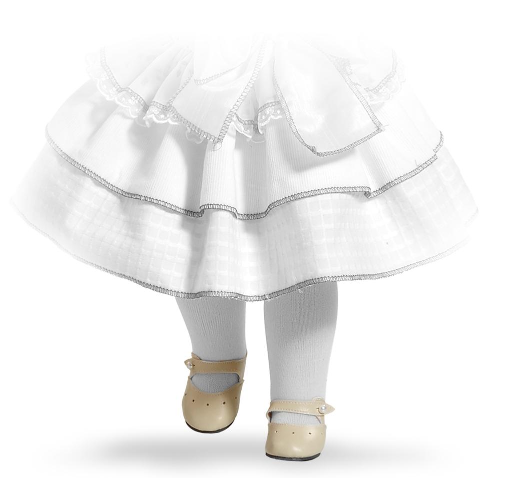 Béžové střevíčky na panenky 60 cm vysoké