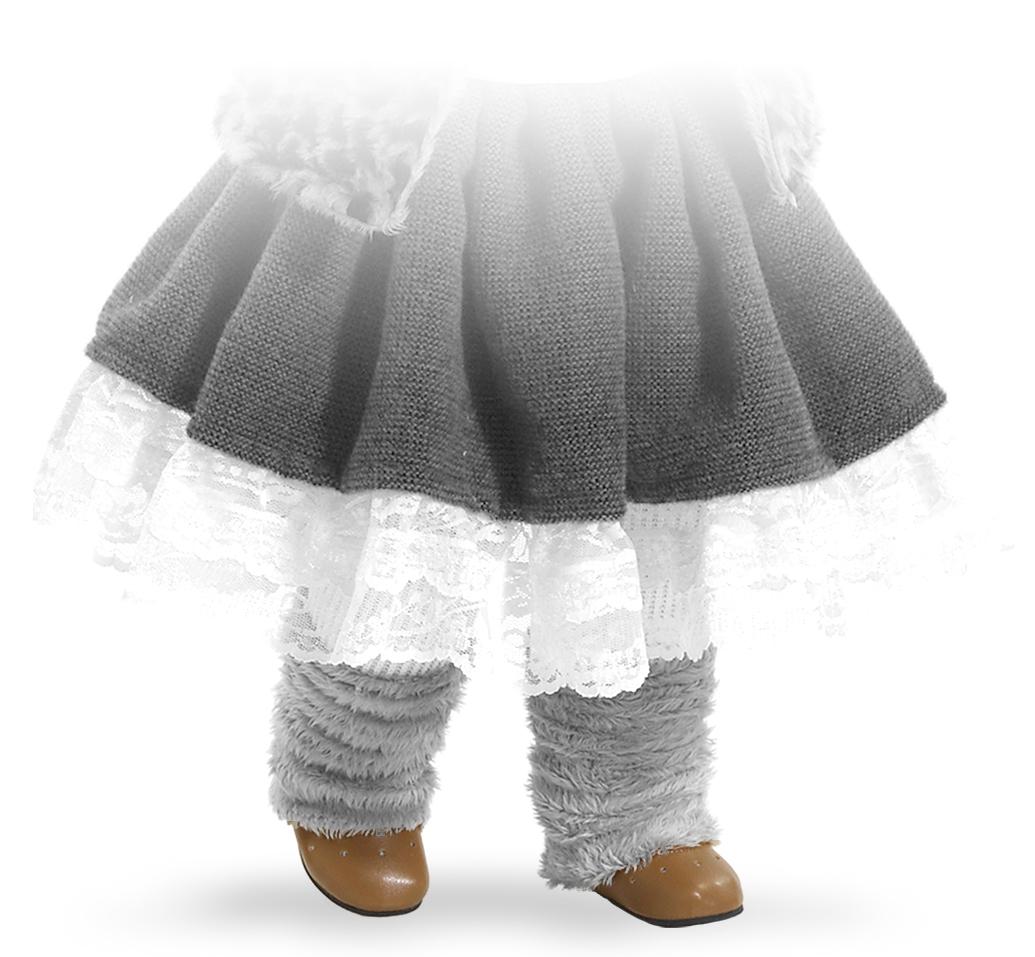 Hnědé boty na panenky 60 cm vysoké