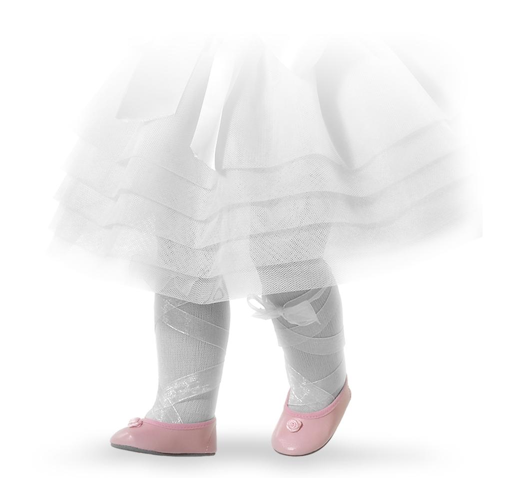 Růžové střevíčky s kytičkou na panenky 60 cm vysoké