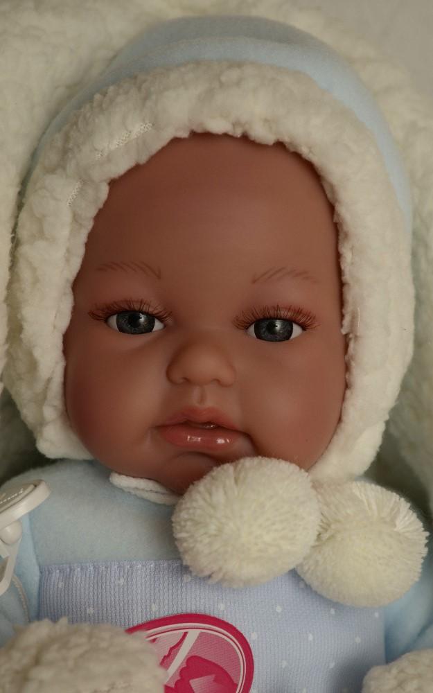 Realistické miminko Antonio Juan - chlapeček Tonet v zimním (Doprava zdarma)