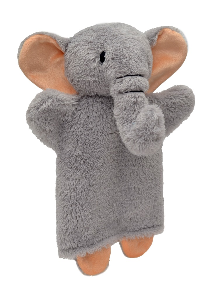 Maňásek na ruku - Slon šedý (27 cm)