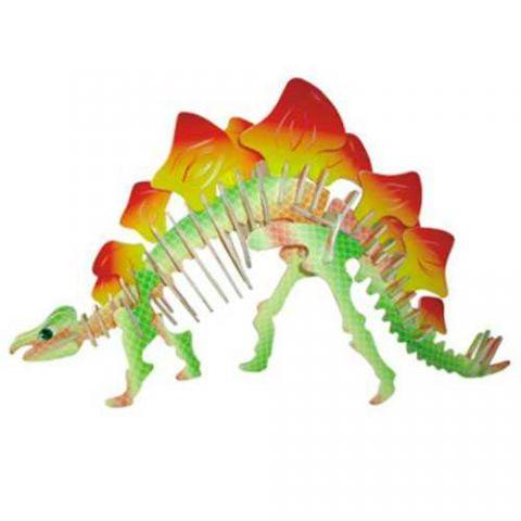Dřevěné 3D puzzle skládačka - dinosauři - Stegosaurus (Dřevěné 3D puzzle dřevěná skládačka dinosauři Mamut J011)
