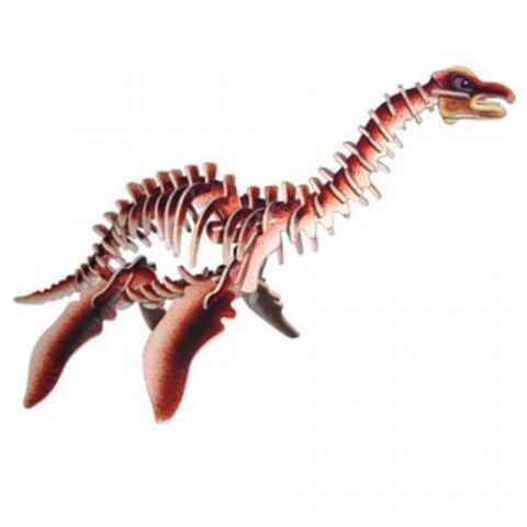 Dřevěné 3D puzzle skládačka - dinosauři - Plesiosaurus (Dřevěné 3D puzzle dřevěná skládačka dinosauři Mamut J011)