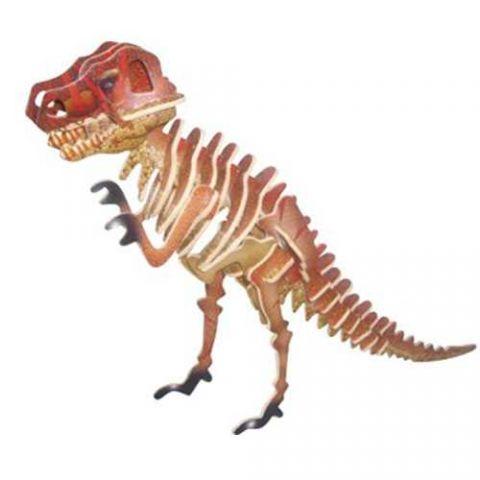 Dřevěné 3D puzzle skládačka - dinosauři - Tyranosaurus T- rex (Dřevěné 3D puzzle dřevěná skládačka dinosauři Mamut J011)