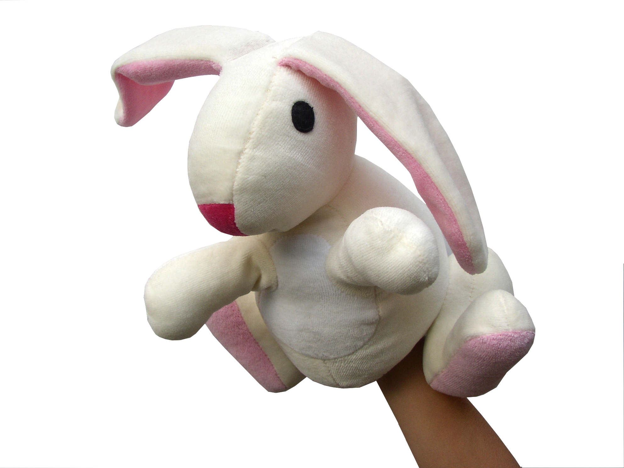 """Maňásek na ruku - Zajíc (maňásek i """"plyšák"""")"""