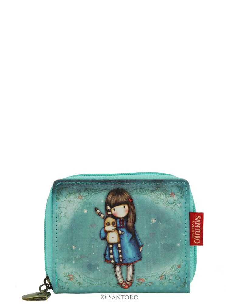 Malá peněženka na zip Hush Little Bunny od firmy SANTORO Gorjuss