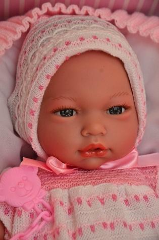 Realistické miminko - holčička - Alba na dečce od firmy Guca ze Španělska (Doprava zdarma)
