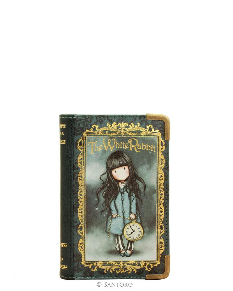 Peněženka ve tvaru knihy - The White Rabbit od firmy SANTORO Gorjuss