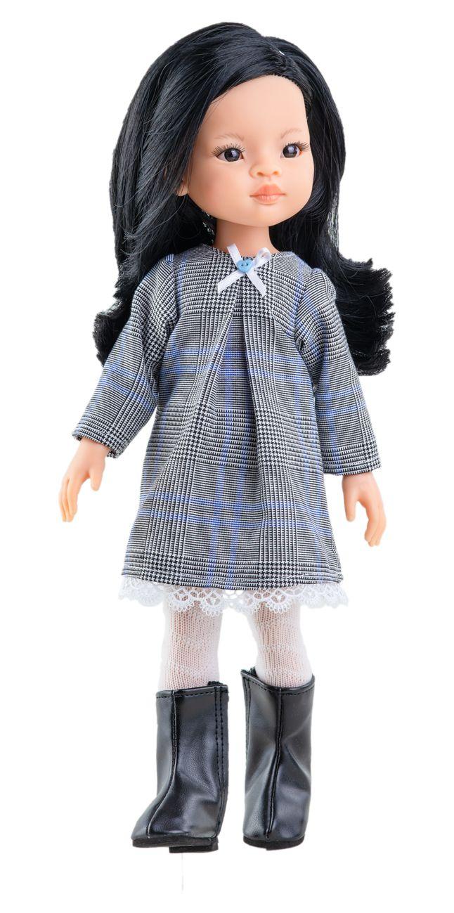 Realistická panenka Liu v černo-bílých šatech od f. Paola Reina ze Španělska