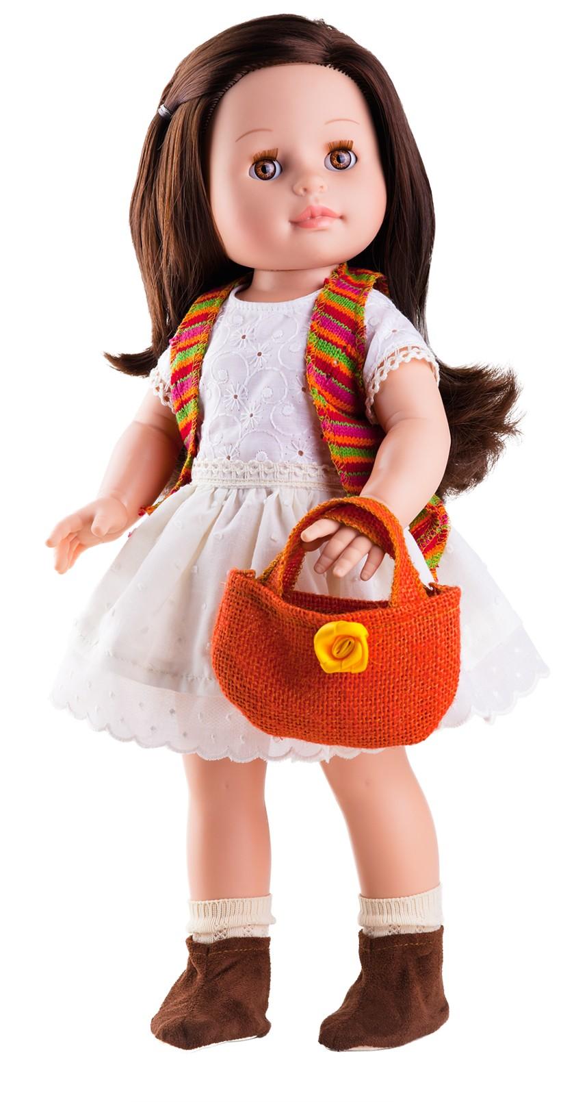 Realistická panenka Emily s červenou taškou od f. Paola Reina