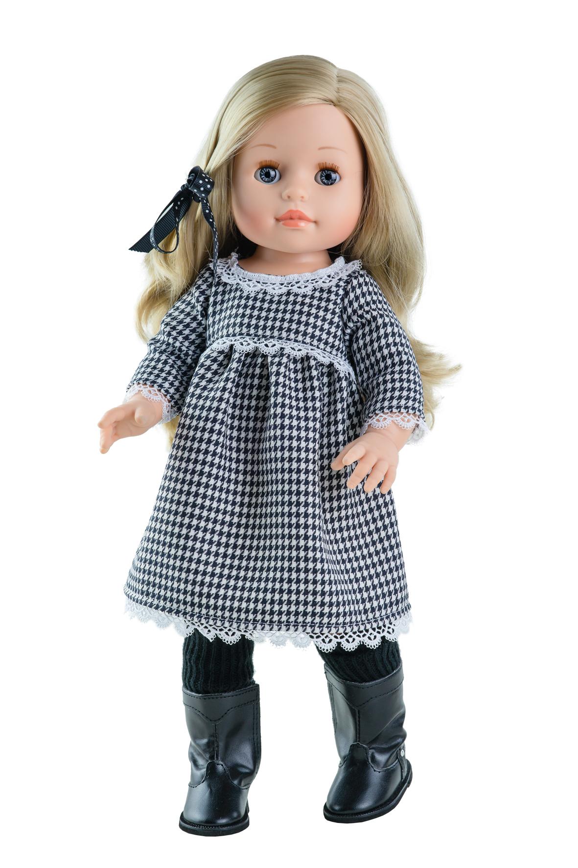 Realistická panenka Emma v černo-bílých šatech od f. Paola Reina